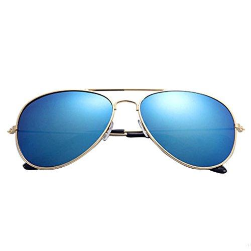 Fheaven Women Men Vintage Retro Glasses Aviator Mirror Lens Sunglasses Polarized Brand Sun Glasses Prevent Ultraviolet for Travel - Sunglasses F1
