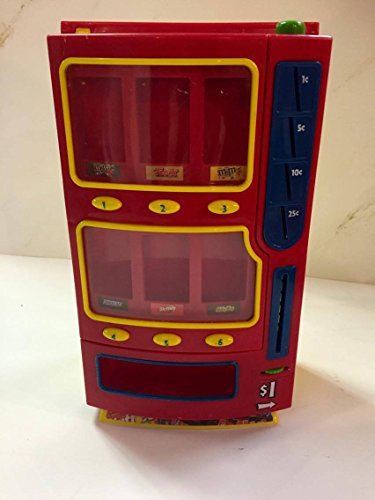 M&M Toy Mini Candy Vending Machine Plastic 2004 Bank M&M, Skittles, Snickers, Milkyway, Twix, 3 Musketeers, And Starburst
