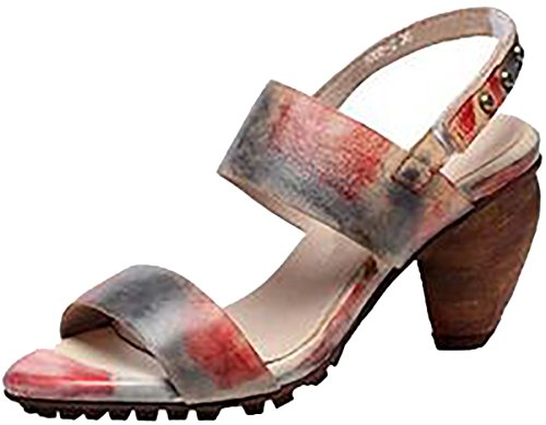 Women's Burgundy Laruise High Heel Leather Sandal 4FaxHUqw