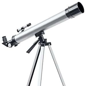 Bresser - Telescopio refractor (50x/100x aumentos, 50/600 mm)