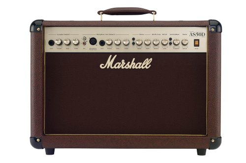 Marshall Acoustic Soloist AS50D 50 Watt Acoustic Guitar Amplifier with 2 Channels, Digital Chorus and (Acoustic Guitar Amp Amplifier)