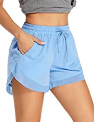 ALONG FIT Running Shorts Women for Workout Gym Shorts with Pockets Athletic Shorts High Waist