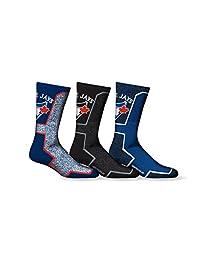 Sporticus Men's MLB Toronto Blue Jays 3-Pack Premium Crew Socks