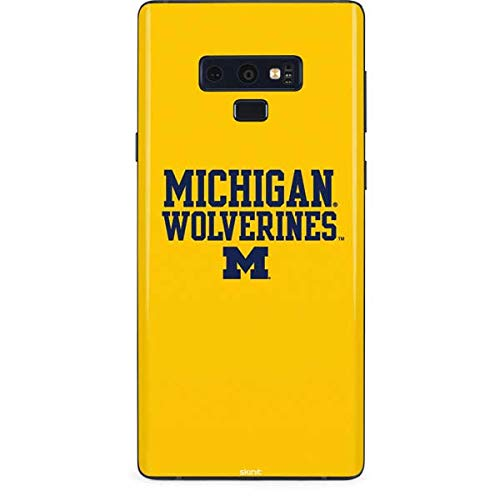 Skinit Michigan Wolverines Galaxy Note 9 Skin - Officially Licensed College Phone Decal - Ultra Thin, Lightweight Vinyl Decal Protection