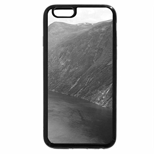 iPhone 6S Case, iPhone 6 Case (Black & White) - tortuous river