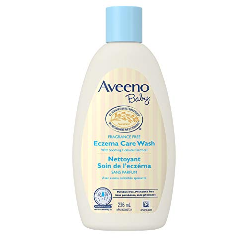 Aveeno Baby Eczema Care Wash With Colloidal Oatmeal for Extra Dry Skin, Tear Free and Unscented, 236 Ml, 236 Milliliters