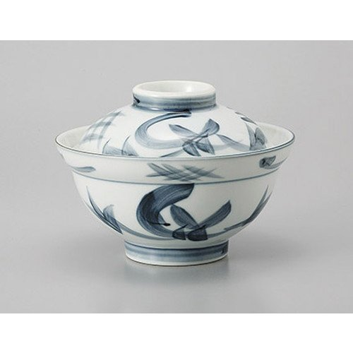 [mkd-525-16-48e] Lid with large tea antiquity autumn season bowl with rice bowl [15.5 x 11 cm] Ryotei ryokan Japanese food machine restaurant business use