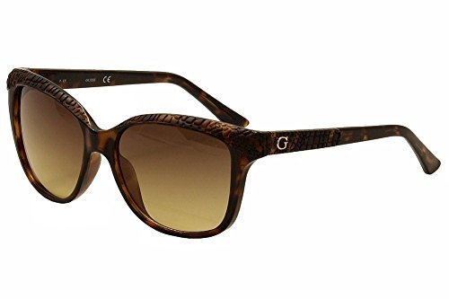 GUESS Women's Acetate Soft Cat-Eye Square Sunglasses, 52F, 56 - Guess Shades