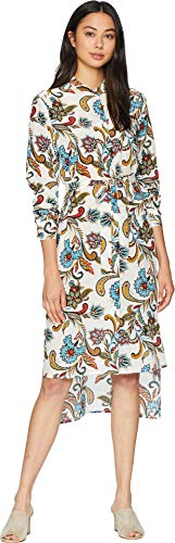 Paisley Angel (Juicy Couture Women's Ornate Floral Paisley Silk Shirtdress Angel Ornate Floral Medium)
