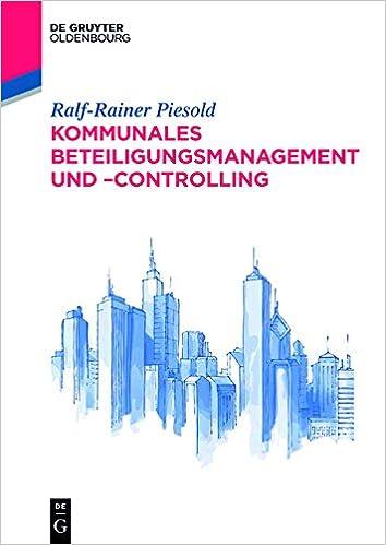 Book Kommunales Beteiligungsmanagement Und Controlling (de Gruyter Studium)