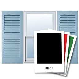 Alpha VNB1581BLOL 14-Inch by 81-Inch Open Louver, Black, 2-Pack