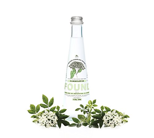 Found Infused Sparkling Water, Elder Flower, 11.2 Fluid Ounce (Pack of ()