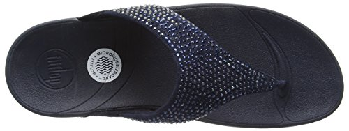 Supernavy Women's Flare Fitflop Blue Sandals 097 0ABnqwC