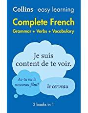 Easy Learning French Complete Grammar, Verbs and Vocabulary (3 books in 1): Trusted Support for Learning