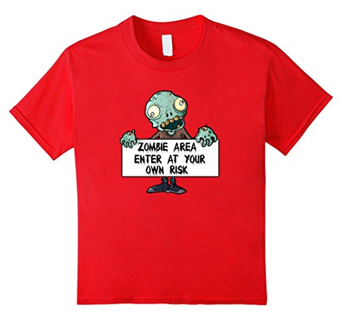 Kids Kids Zombie Shirt 6 Red (Zombie Clothing)