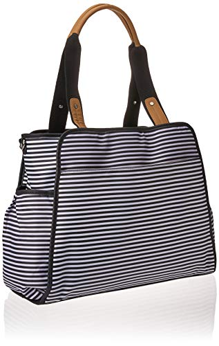 Skip Hop Diaper Bag Tote with Matching Changing Pad, Grand Central, Black & White Stripe by Skip Hop (Image #2)