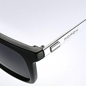 AORON Unisex Polarized Aluminum Sunglasses, 100% UV400 Protection, Vintage Night Sight Eyewear, for Men/Women with Safe Box