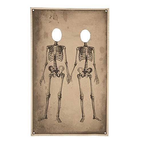 Skeleton Couple Halloween Photo Banner, Canvas -