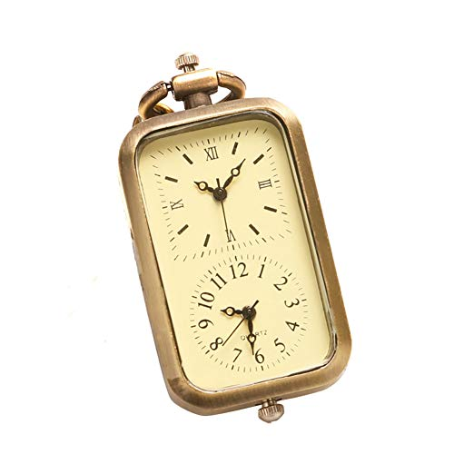 YISUYA Vintage Bronze Doctor Who Retro Dr. Who Quartz Pocket Watch with Necklace & Gift Box (Square Pocket Watch)