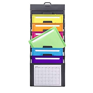 Smead Cascading Wall Organizer, 6 Pockets, Letter Size, Gray/Bright Pockets (92060) (B00H0FJLZS) | Amazon Products