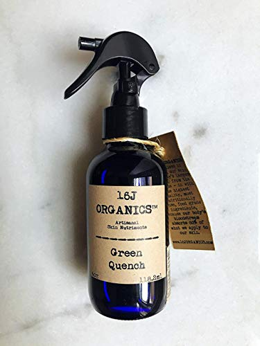 """Body Oil Moisturizer""""Green Quench"""" 4oz- Organic 100% Natural - An Artisanal Green Juice-Smoothie For the Skin - All Food Grade Ingredients"""