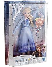 Disney Frozen-modepop zingende Elsa met blauwe jurk geïnspireerd op de Disneyfilm Frozen 2, speelgoed voor kinderen vanaf 3 jaar