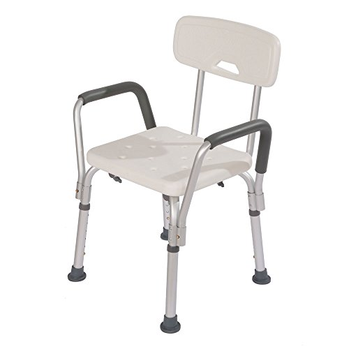 Z Ztdm Adjustable Medical Shower Chair Premium Bathtub Bench Bath Seat With Back And Arms Bath