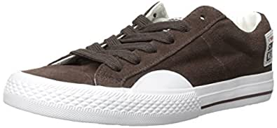 Vision Street Wear Women's Suede Lo Sneaker,Chocolate/White,5 M US