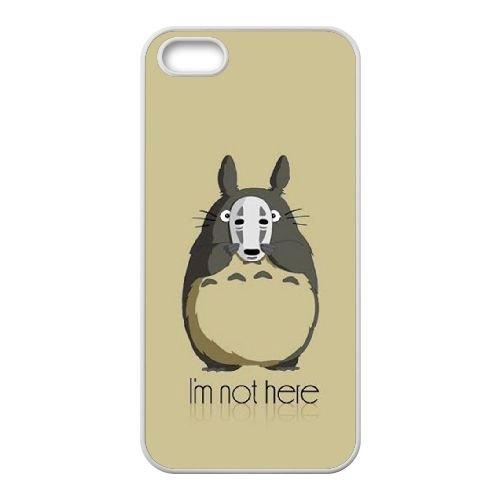 My Neighbor Totoro 006 coque iPhone 4 4S Housse Blanc téléphone portable couverture de cas coque EOKXLKNBC22889