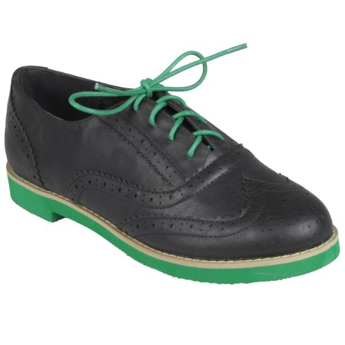 Brinley Co Womens Round Toe Lace-up Oxford