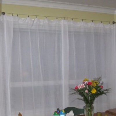 Fasthomegoods Curtain Drape Wire Rod Set With 24 Clips