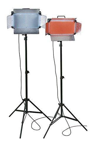 ePhotoInc 500 LED X 2 Video Light Panel Dimmable Photography Studio Photo Lighting Kit VL500SDx2 by ePhoto