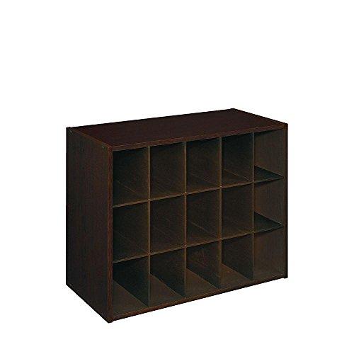 ClosetMaid Espresso Stackable 15-Cube Organizer | 24 in. W x 19 in. H