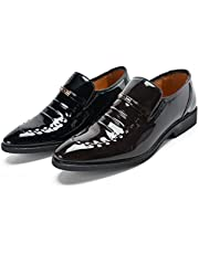 Men's Oxford Shoes Dress Lace Up Casual Wedding Leather Shoe Classic Toe Cap Formal
