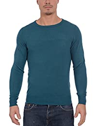 Kensington Men's Soft Casmillon Crew Neck Long Sleeve Knit Pullover Sweater
