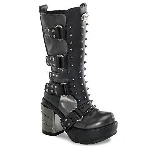 Demonia Sinister-202 - gothique industrial metal talon hauts bottes chaussures femmes 36-43