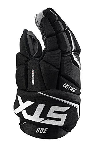 STX Stallion 300 Junior Ice Hockey Gloves, Black/White, 12