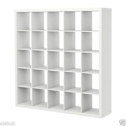IKEA Kallax 5 x 5 Bookshelf Storage Shelving Unit Bookcase WHITE NEW Rep Expedit  sc 1 st  Amazon.com & Amazon.com: IKEA Kallax 5 x 5 Bookshelf Storage Shelving Unit ...