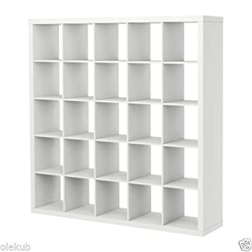 IKEA Kallax 5 x 5 Bookshelf Storage Shelving Unit Bookcase WHITE NEW Rep Expedit