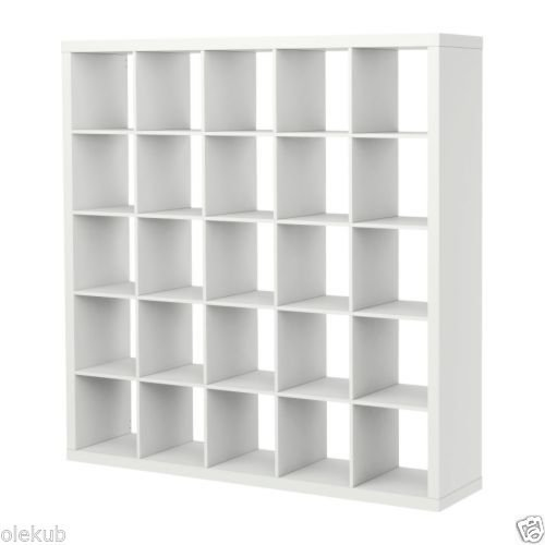 IKEA-Kallax-5-x-5-Bookshelf-Storage-Shelving-Unit-Bookcase-WHITE-NEW-Rep-Expedit