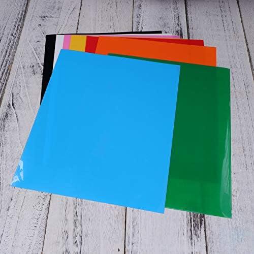 Supvox Vinilo de transferencia de calor colorido de 12 piezas para camisetas Paquete de hierro en vinilo htv para paquete de hierro en vinilo htv para tela, camiseta: Amazon.es: Hogar