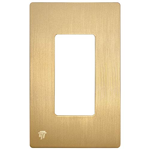ENERLITES Elite Series Screwless Decorator Wall Plate Child Safe Outlet Cover, Size 1-Gang 4.68