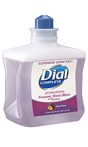 Dial 822904 Complete Cool Plum Antimicrobial Foaming Hand Wash, 4/1 L E2 Refill (Pack of 4)