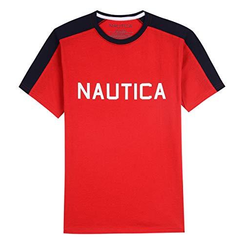 (Nautica Toddler Boys' Short Sleeve Colorblock Crew-Neck T-Shirt, Andy Carmine, 2T)