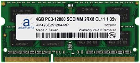 2x8GB Adamanta 16GB Laptop Memory Upgrade for Lenovo B40-30 DDR3L 1600Mhz PC3L-12800 SODIMM 2Rx8 CL11 1.35v Notebook RAM