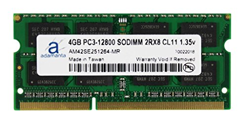 Hp Upgrades Memory Pavilion (Adamanta 4GB (1x4GB) Laptop Memory Upgrade for HP Elitebook, Pavilion, Probook, ZBook DDR3L 1600Mhz PC3L-12800 SODIMM 2Rx8 CL11 1.35v Notebook RAM)