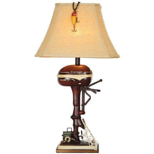 Vintage Boat Motor Rustic Lamp - Lodge Lighting