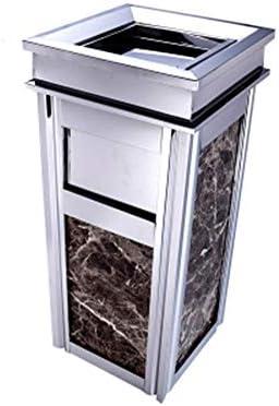 ゴミ箱 ステンレス製ゴミ箱灰皿付き垂直ゴミ箱ホテル廊下オフィスビルエレベーターサイドスイッチ/トップスイッチ 大容量金属製ゴミ箱 (色 : C5, サイズ : 65*29*29cm)