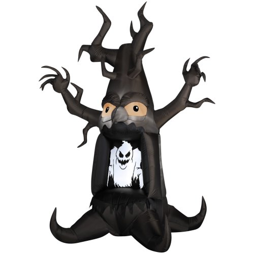 Gemmy Airblown Inflatable 7' Halloween Ghost Tree