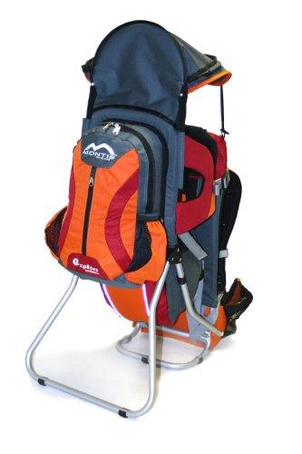 MONTIS EXPLORE EVOLUTION, Rückentrage in orange/rot, Kindertrage, bis 25kg, 2000g700g
